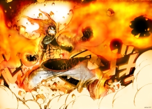 """""""Breaking stuff is a Fairy Tail specialty!"""" - Natsu Dragneel"""