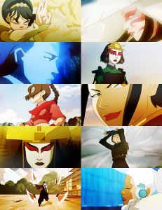 Airbender women: strong female characters who are NOT defined by their romantic relationships.
